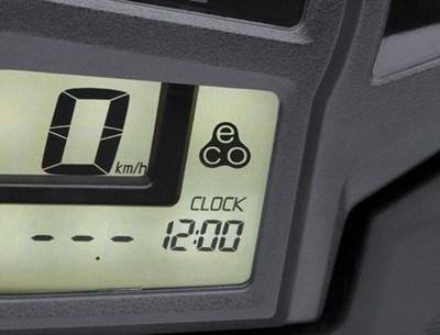 Indicador de conducción económico en la pantalla de la consola