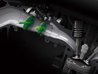Válvulas de mariposa dobles en motor de motocicleta