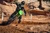 KX™250 rider turning corner